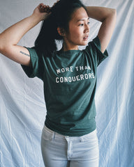 More than Conquerors Sage Green Unisex T-Shirt