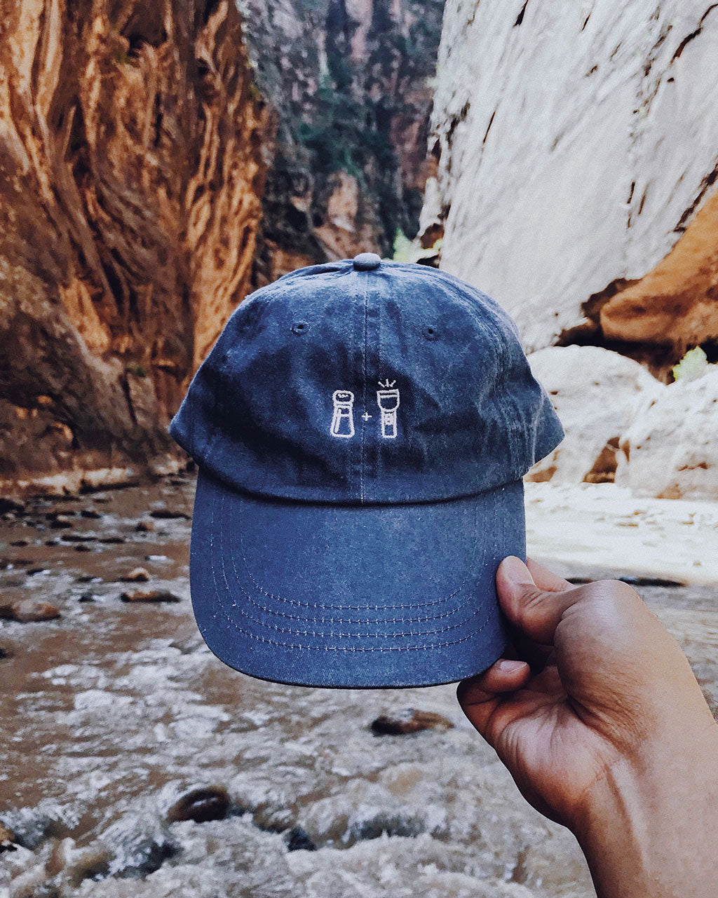 Salt and Light Dad Hat - Deck Blue