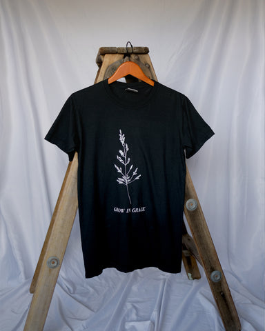 Grow in Grace Black Unisex T-Shirt