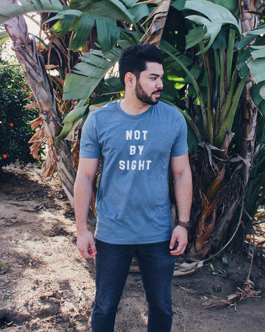Not by Sight Unisex Slate T-Shirt