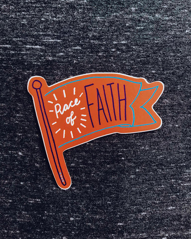 Race of Faith Sticker