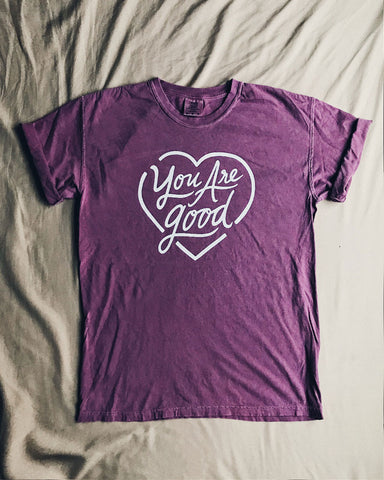 You are Good Unisex Plum T-Shirt