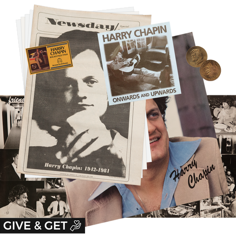 Donation: Harry Chapin Fan Pack & a copy of the Congressional Gold Medal, and the Onwards and Upwards CD/CD ROM