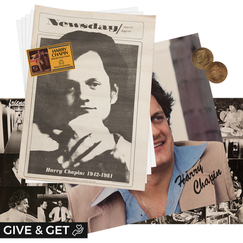 Donation: Harry Chapin Fan Pack & a Copy of the Congressional Gold Medal