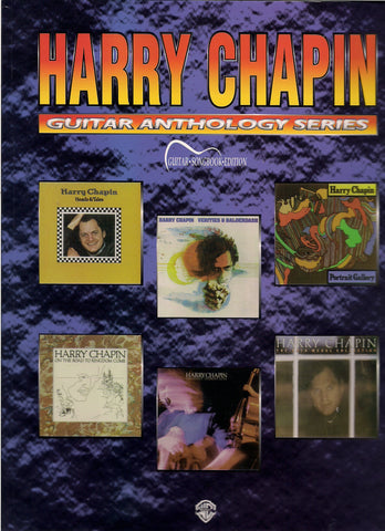 Harry Chapin Guitar Anthology Series Music Book