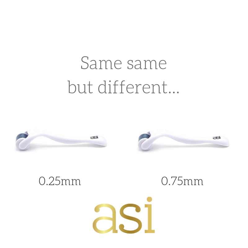 EXPLAINED: The difference between 0.25mm & 0.75mm Dermal Roller