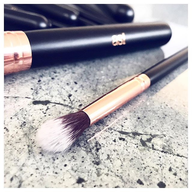 Makeup Brush Set 12p Rose Gold