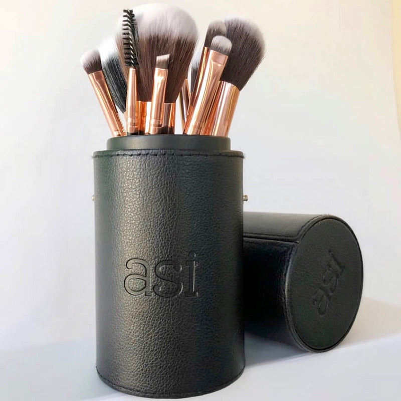 ASI Make Up Brush Set 12p rose gold a collection of make-up brushes for flawless application