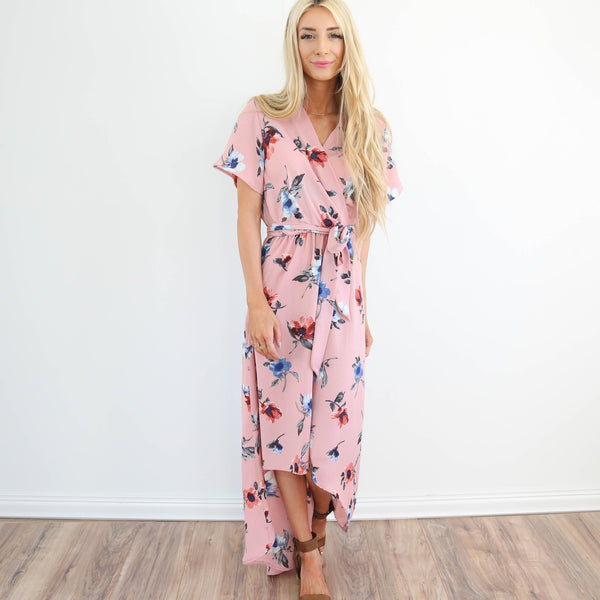 Taylor Floral Dress in Pink