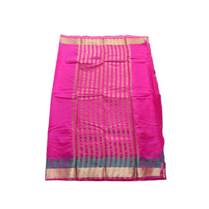 arars Women's kanchipuram kanjivaram pattu style art silk saree with blouse (246,rani)