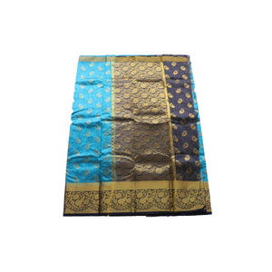 arars Art kanjivaram kanchipuram Pattu silk saree ( 251 KB BLUE )