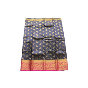 arars Art kanjivaram kanchipuram Pattu silk saree ( 251 KN NAVY BLUE )