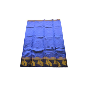 arars Women's kanchipuram kanjivaram pattu style art silk colour saree with blouse (257 ROYAL BLUE)