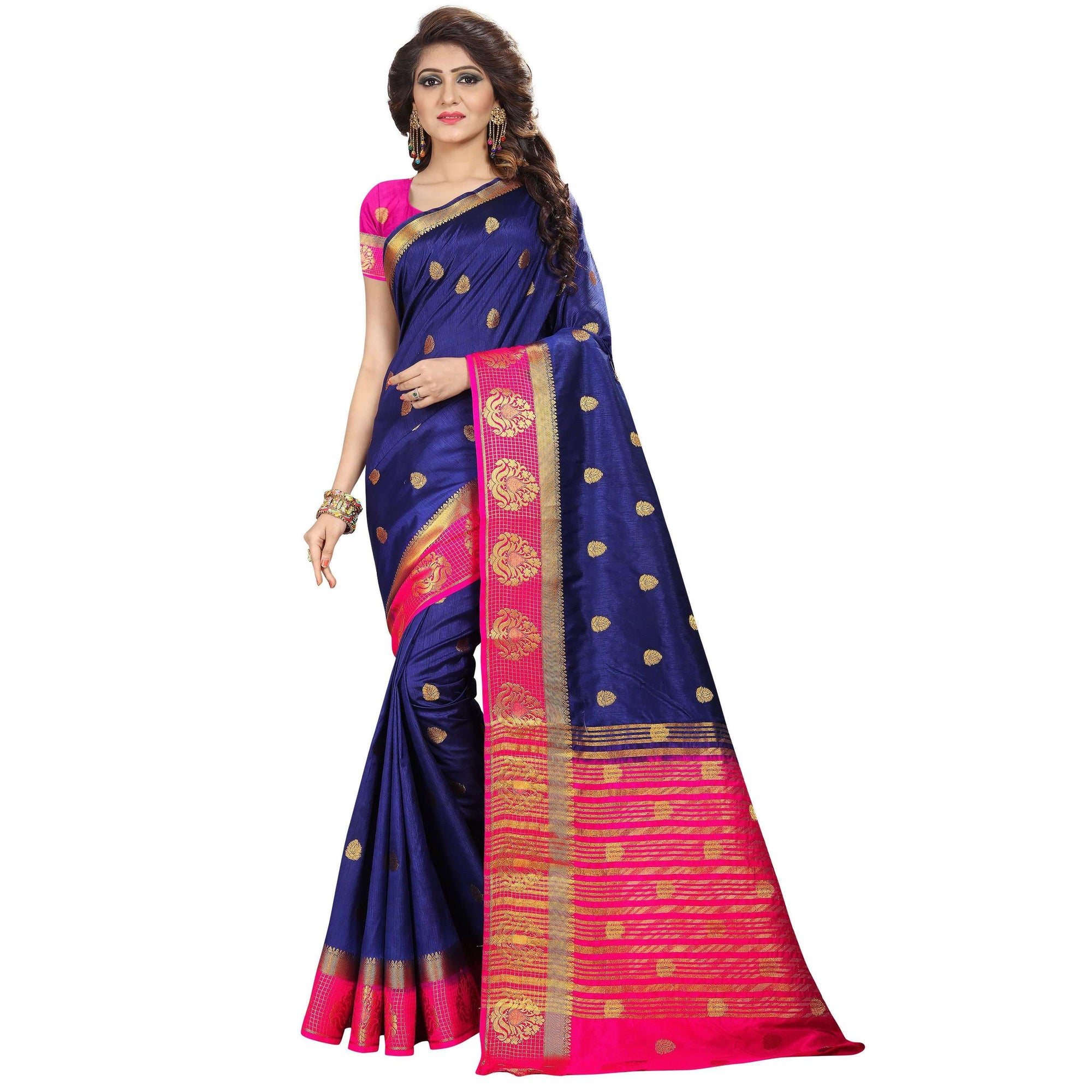 arars kanjivaram kanchipuram silk saree ( 261 KB NAVY BLUE )