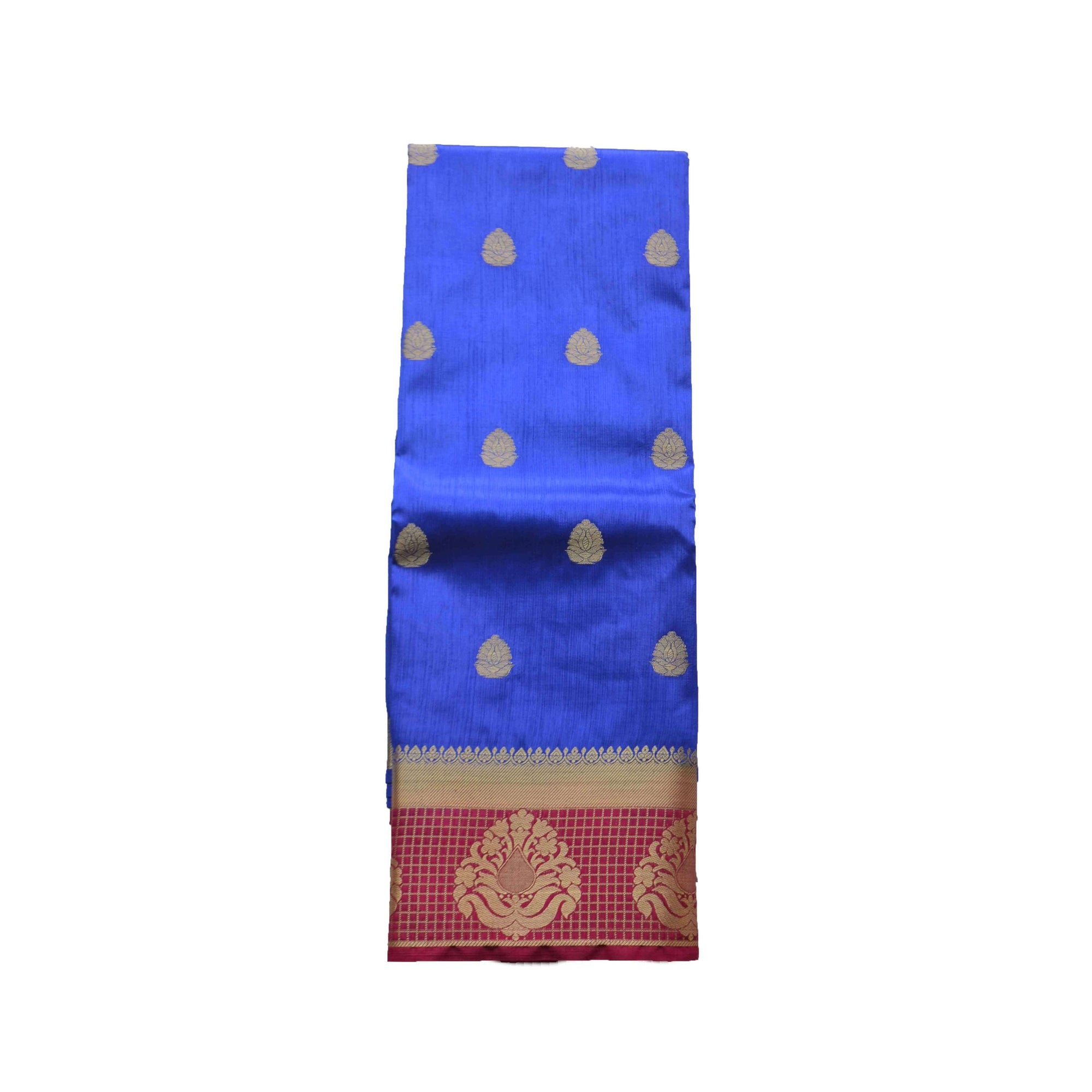 arars Women's kanchipuram kanjivaram pattu style art silk colour saree with blouse (261,royal blue)