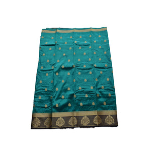arars Women's kanchipuram kanjivaram pattu style art silk colour saree with blouse (261,safair)