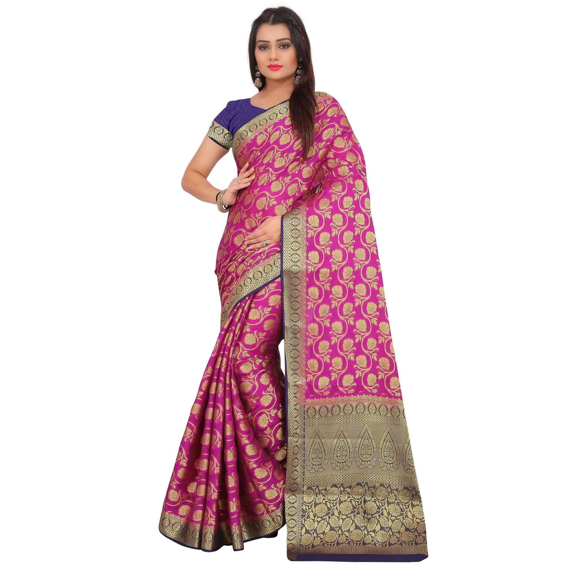 arars crepe silk saree ( 267 CB PURPLE )