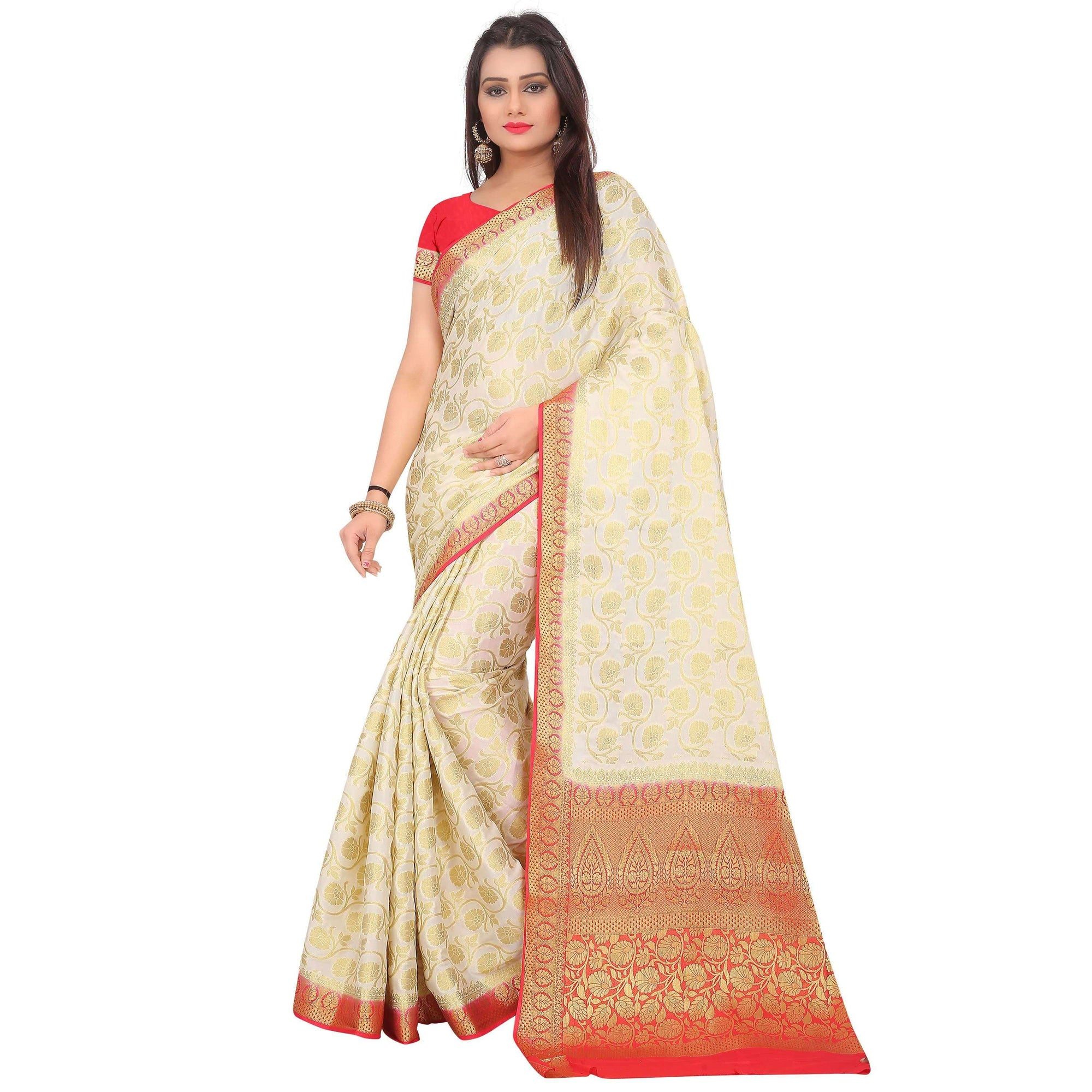 arars crepe silk saree ( 267 CB WHITE )