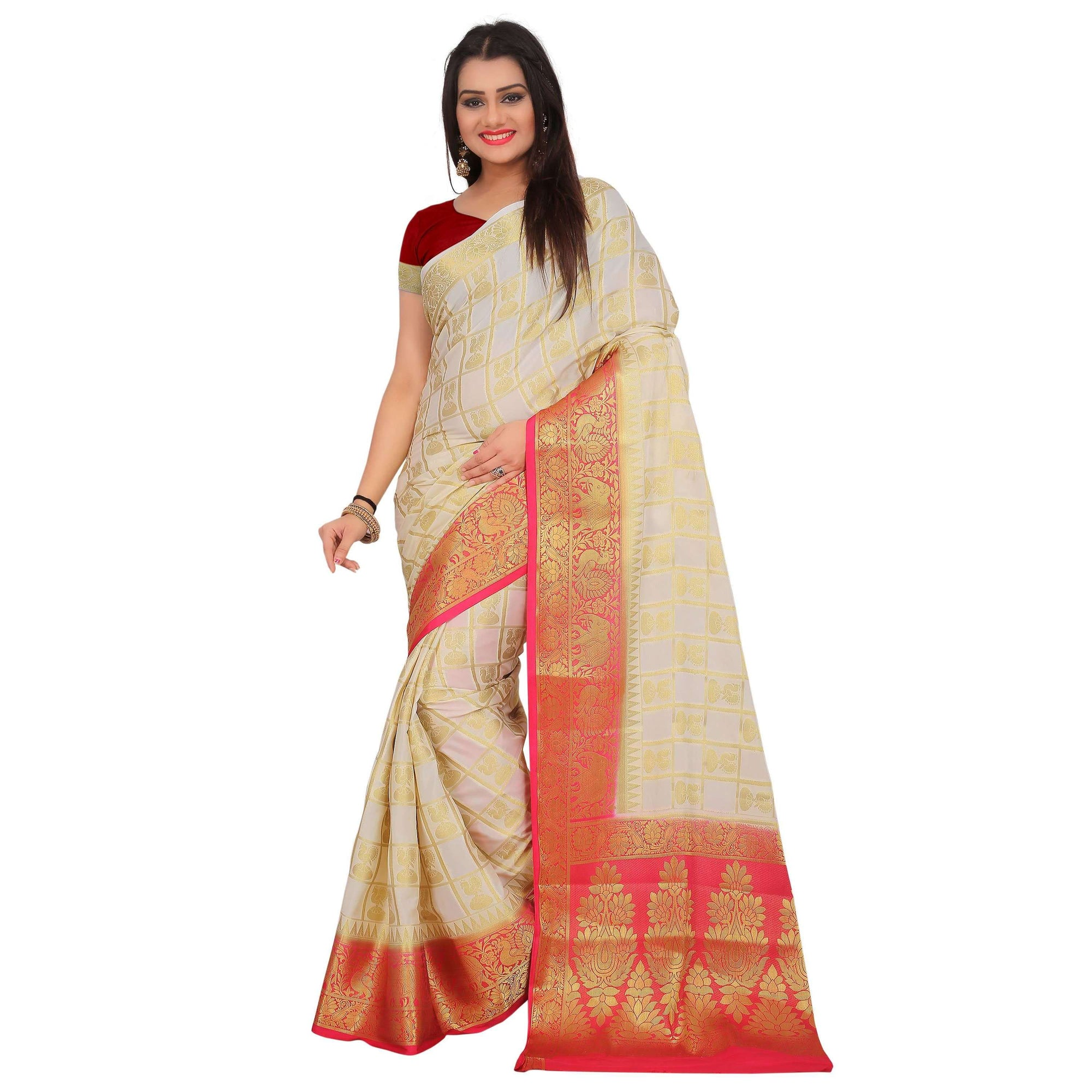 arars crepe silk saree ( 268 CB WHITE )