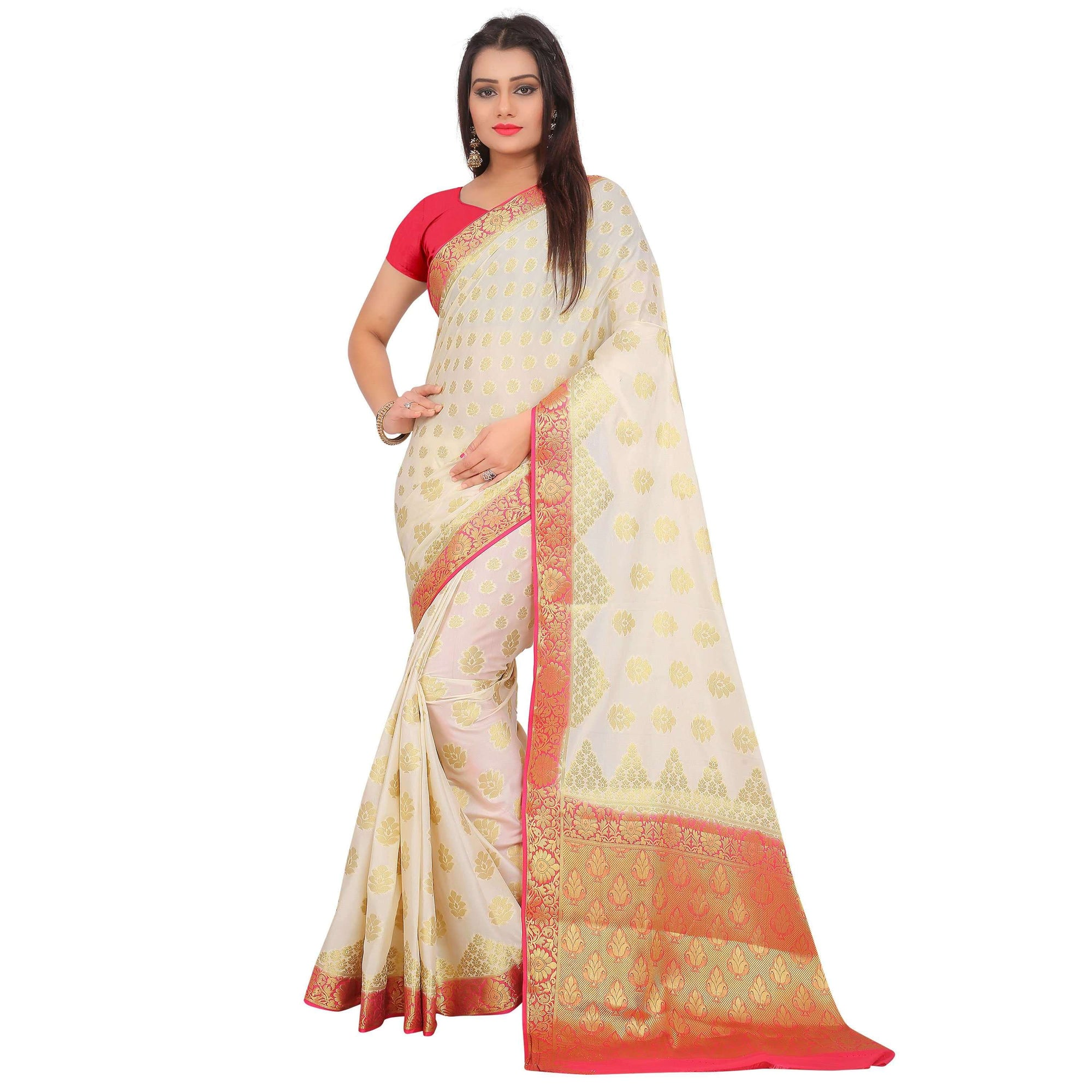 arars crepe silk saree ( 270 CB WHITE )