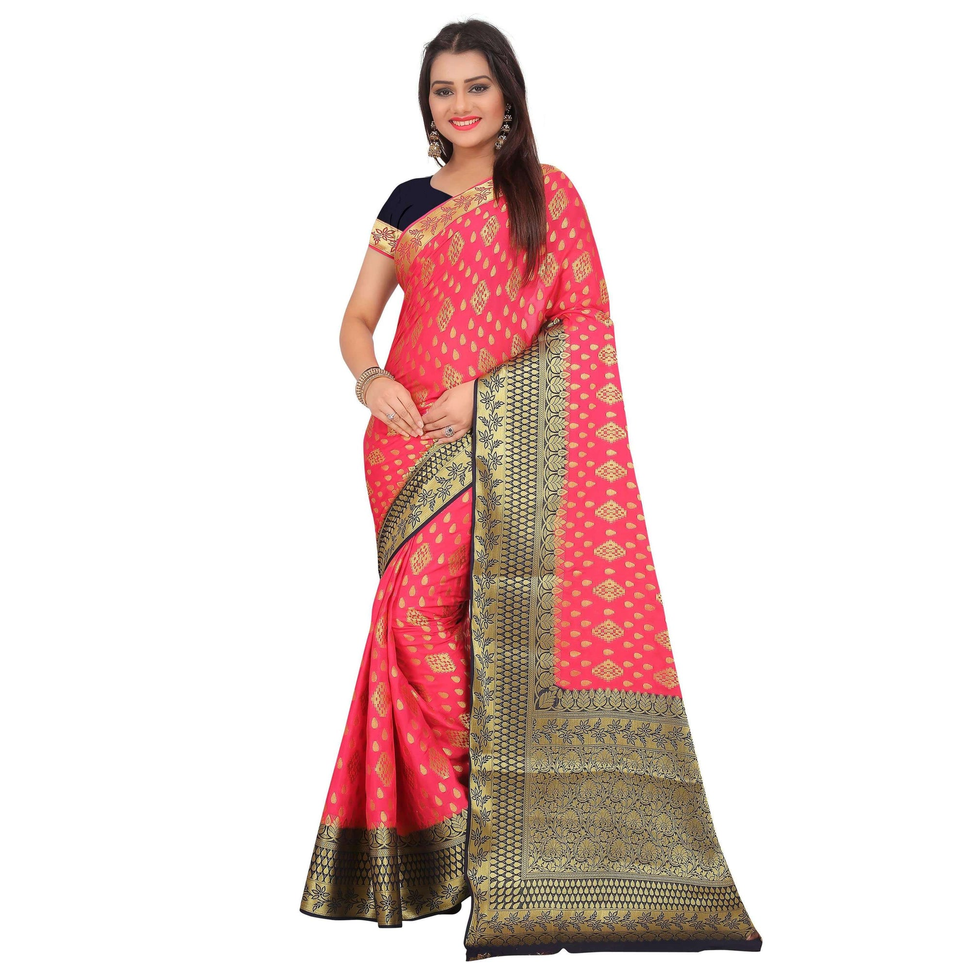 arars crepe silk saree ( 272 CB STRAWBERRY )