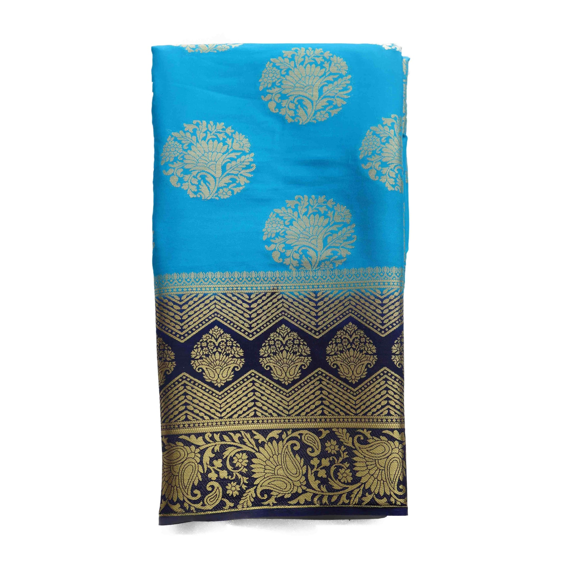 arars art crepe silk saree with blouse kanjivaram pattu style wedding collection colour blue (274)