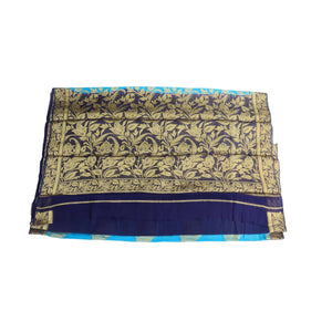 Arars Women's Kanchipuram Kanjivaram Pattu Style Chiffon  Silk Saree With Blouse (277 SF BLUE )