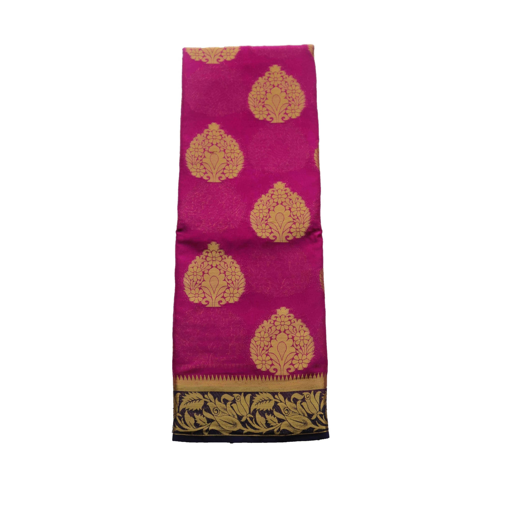Arars Women's Kanchipuram Kanjivaram Pattu Style Chiffon  Silk Saree With Blouse (277 SF PURPLE )