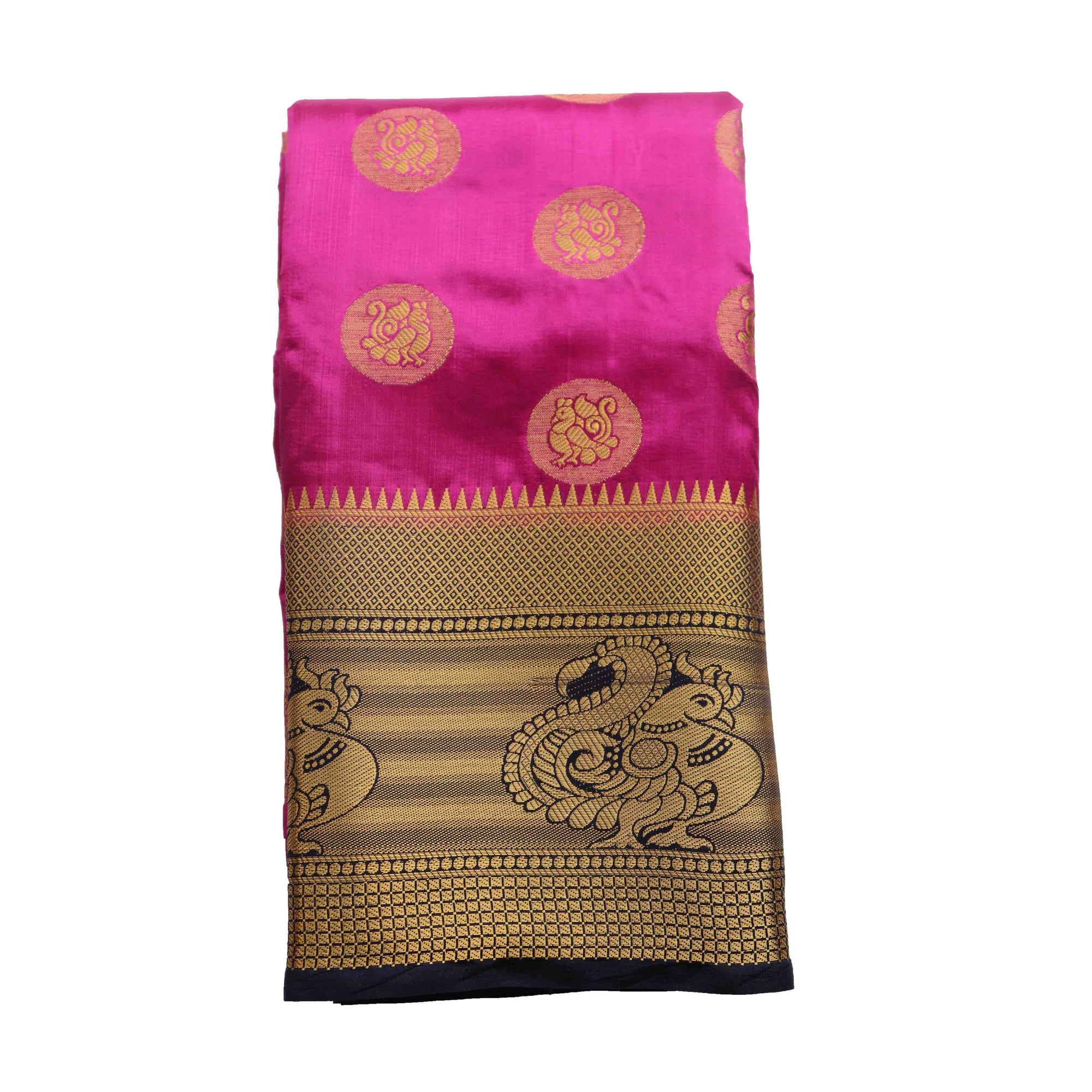 arars art silk saree kanjivaram style with designer bloue saree colour purple (283)