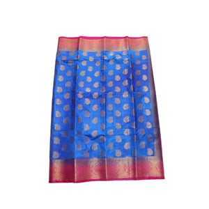 arars Women's kanchipuram kanjivaram pattu style art silk saree with blouse (286,royal blue)
