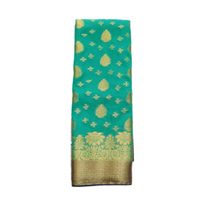 arars Women's kanchipuram kanjivaram pattu style mysore chiffon silk saree with blouse (311,rama)