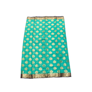 arars Women's kanchipuram kanjivaram pattu style mysore chiffon silk saree with blouse (312,rama)