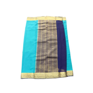 arars Women's kanchipuram kanjivaram pattu style mysore chiffon silk saree with blouse (316,safair)