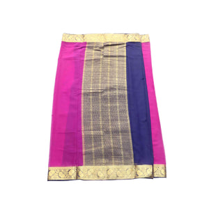 arars Women's kanchipuram kanjivaram pattu style mysore chiffon silk saree with blouse (320,purple)