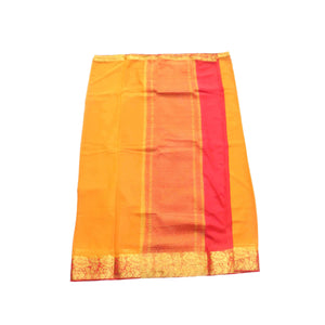 arars Women's kanchipuram kanjivaram pattu style mysore chiffon silk saree with blouse (322,mustard)
