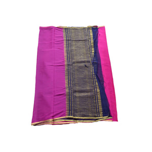 arars Women's kanchipuram kanjivaram pattu style art chiffon silk colour saree with blouse (325,purple)