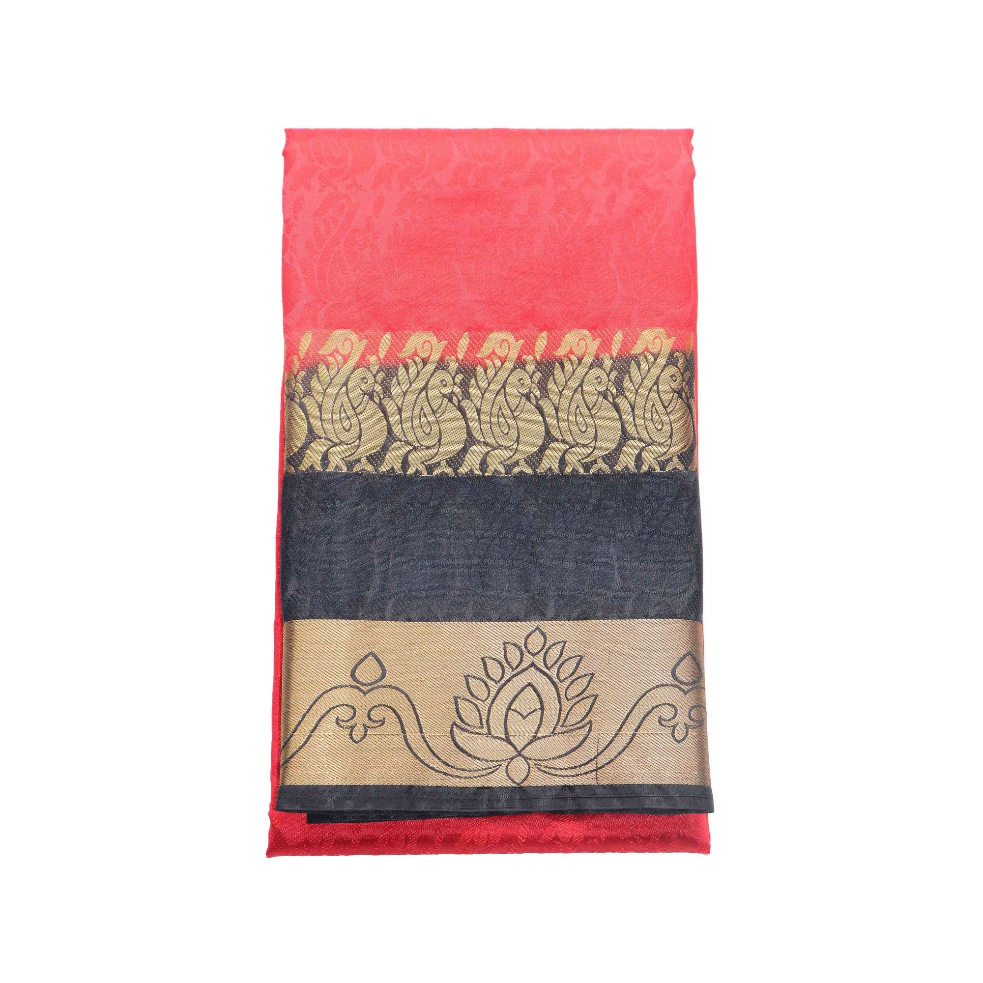 arars Women's kanchipuram kanjivaram pattu style art silk saree with blouse (326,strawberry)