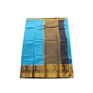 arars Women's kanchipuram kanjivaram pattu style art silk saree with blouse (327,blue)