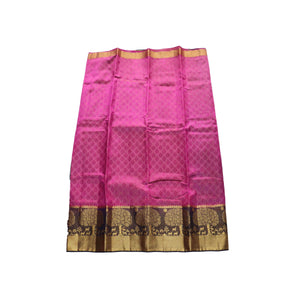 arars Women's kanchipuram kanjivaram pattu style art silk saree with blouse (327,purple)