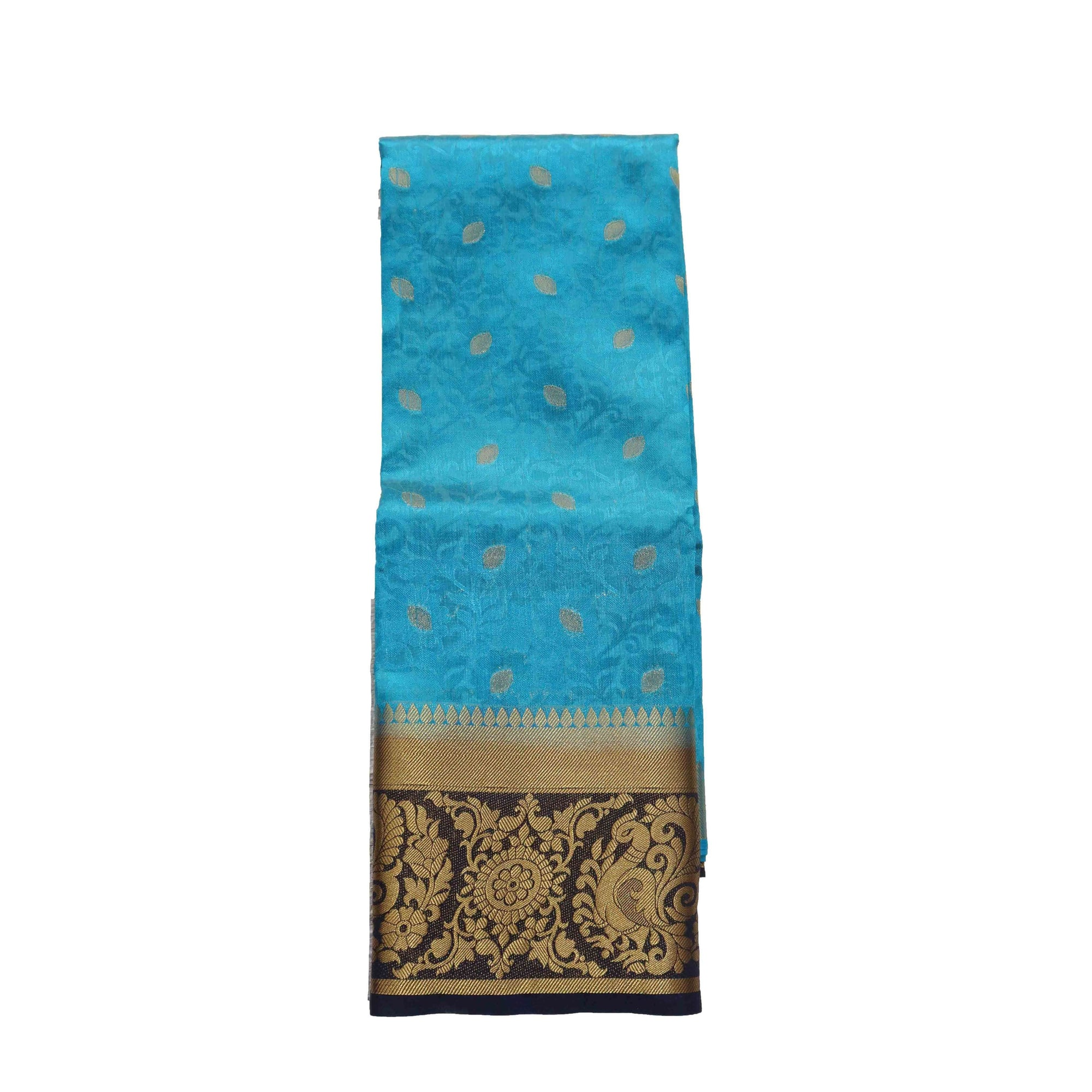 arars Women's kanchipuram kanjivaram pattu style art silk saree with blouse (329,blue)