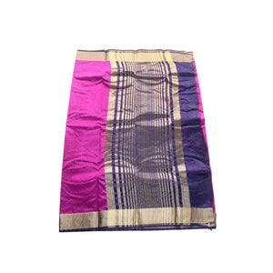 arars Women's kanchipuram kanjivaram pattu style art silk saree with blouse (330,purple)