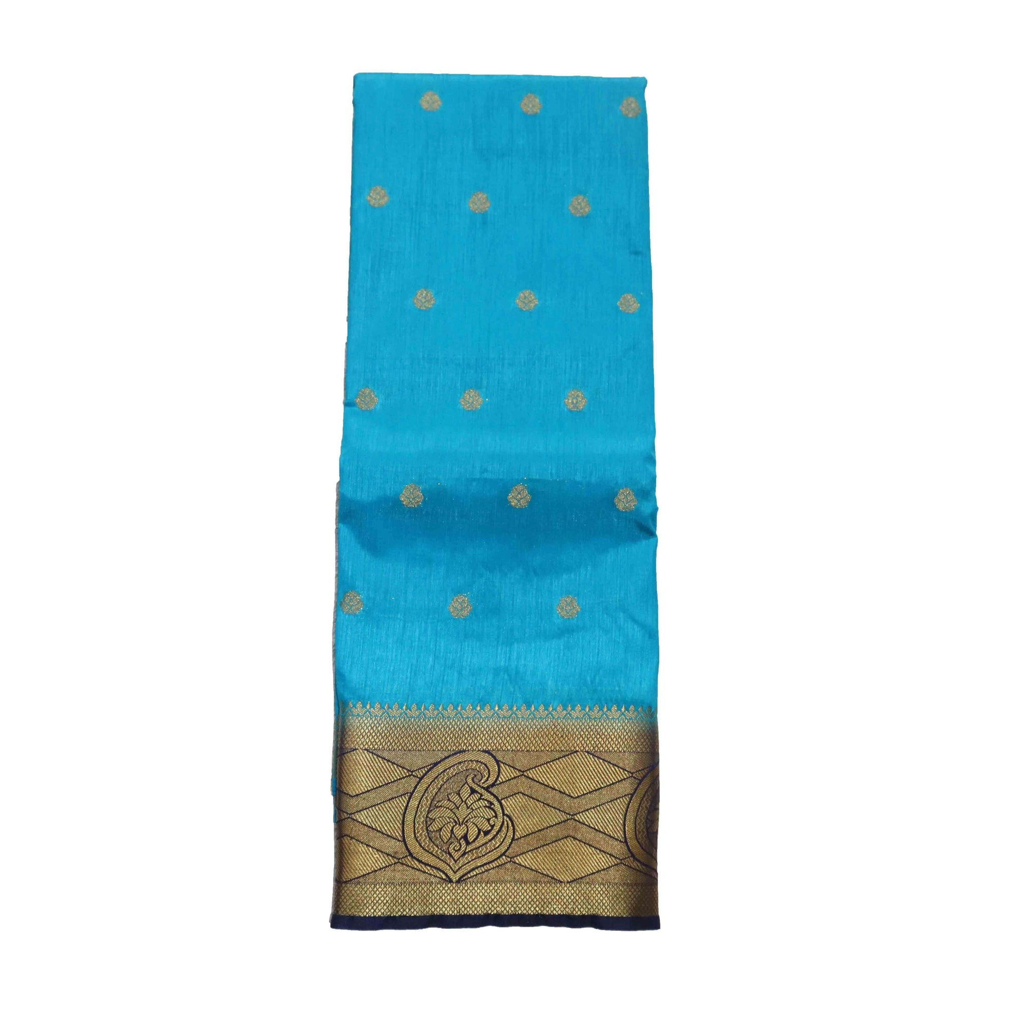 arars Women's kanchipuram kanjivaram pattu style art silk saree with blouse (331,blue)