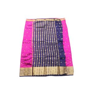 arars Women's kanchipuram kanjivaram pattu style art silk saree with blouse (331,purple)
