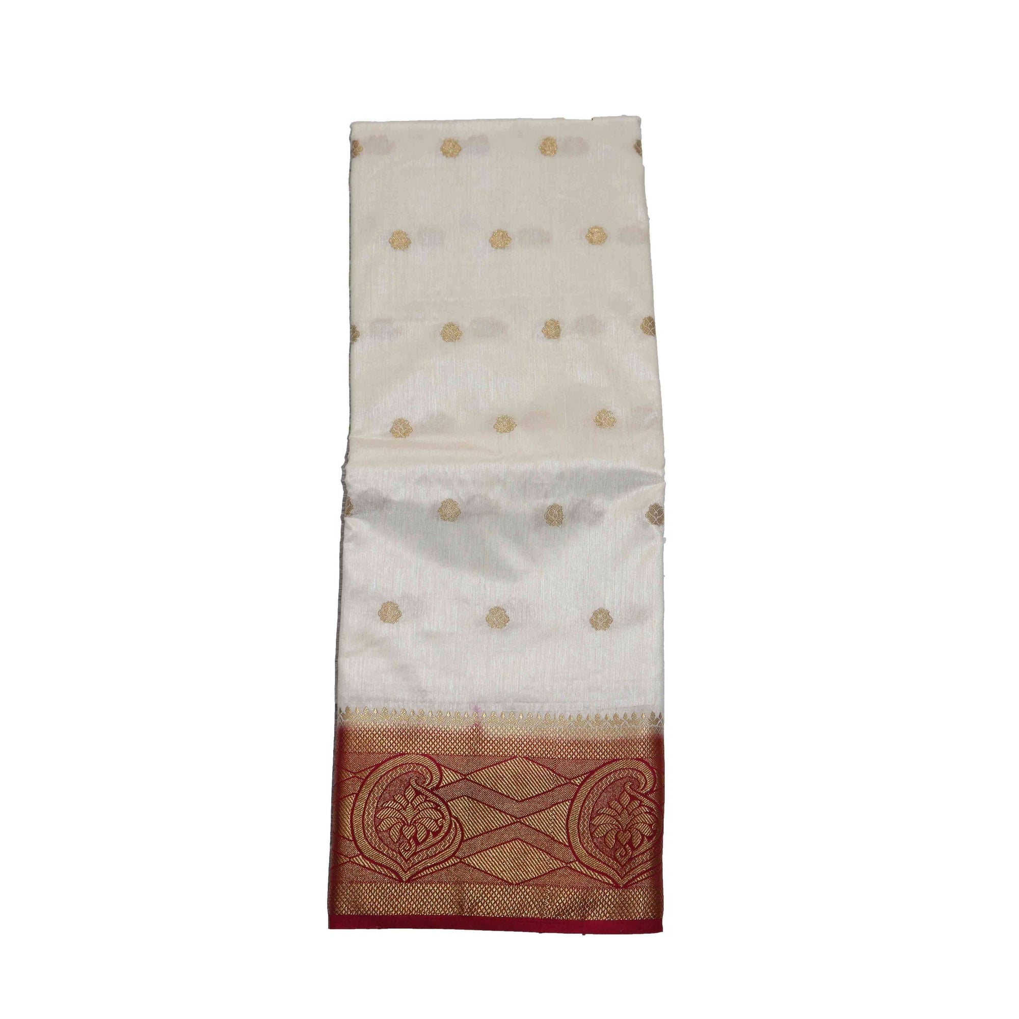 arars Women's kanchipuram kanjivaram pattu style art silk saree with blouse (331,white)
