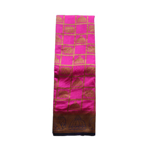 arars art silk saree kanjivaram kanchipuram pattu style with designer bloue saree colour mustard (337)