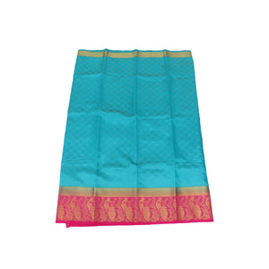 arars Women's Kanchipuram Pattu plain Silk Saree With Blouse (339_safair&rani )
