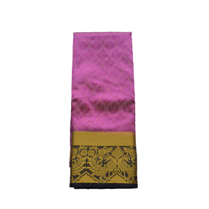 arars Women's kanchipuram kanjivaram pattu style art silk colour saree with blouse (340 PURPLE)