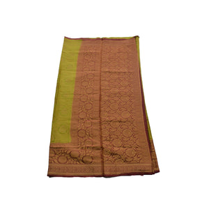 Arars Women's Kanchipuram Kanjivaram Pattu Style Soft  Silk Saree With Blouse (342 CR OLIVE )