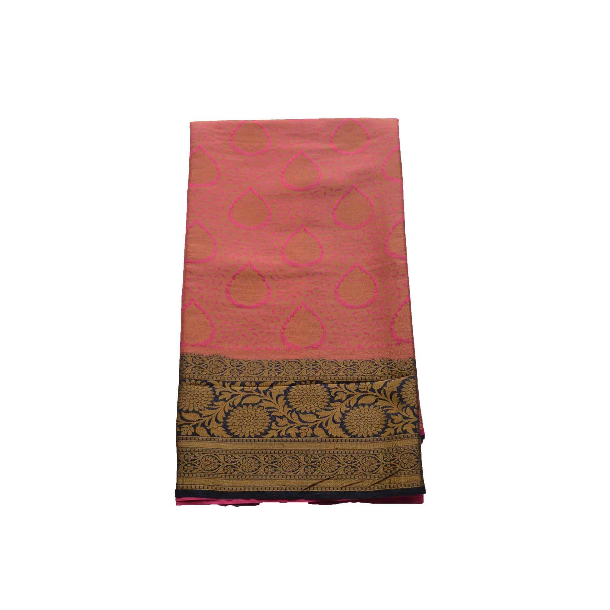 Arars Women's Kanchipuram Kanjivaram Pattu Style Soft  Silk Saree With Blouse (342 CR STRAWBERRY )