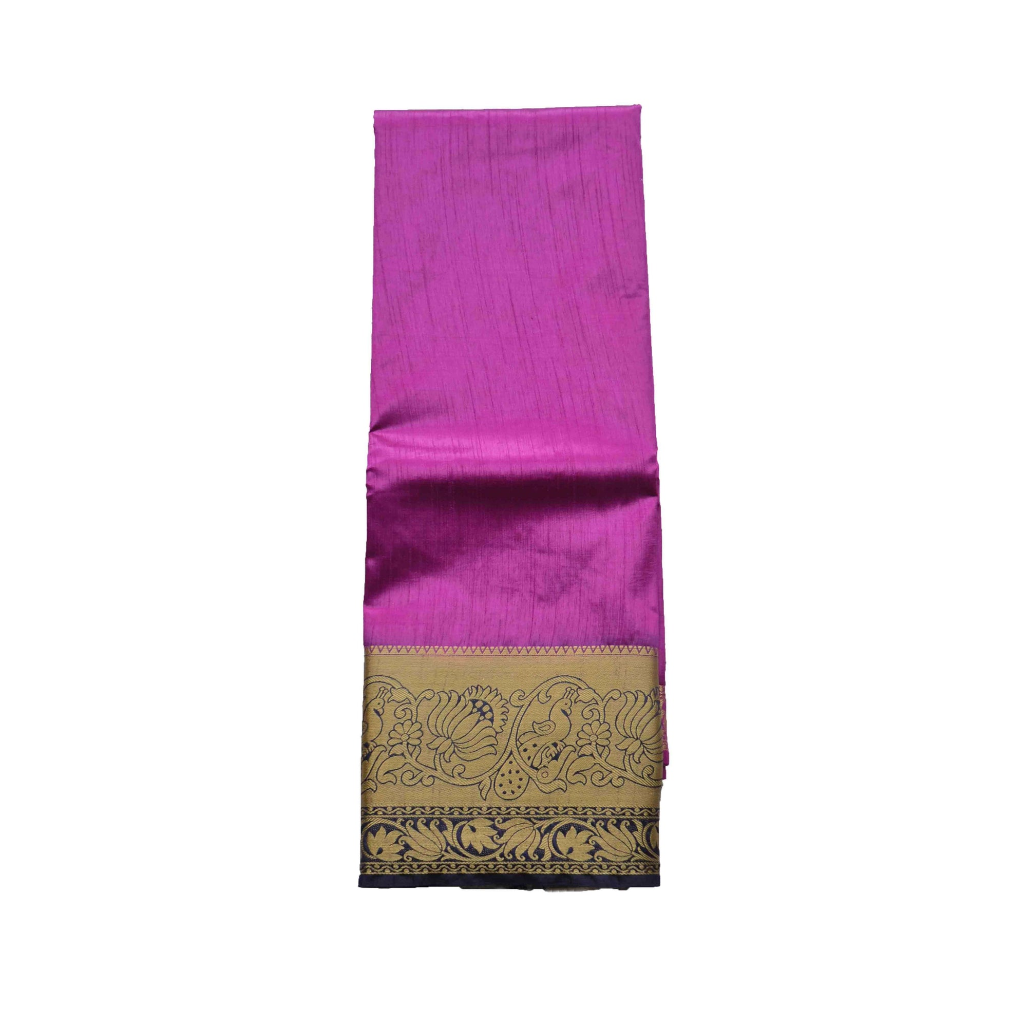 arars Women's kanchipuram kanjivaram pattu style art silk colour saree with blouse (345,purple)